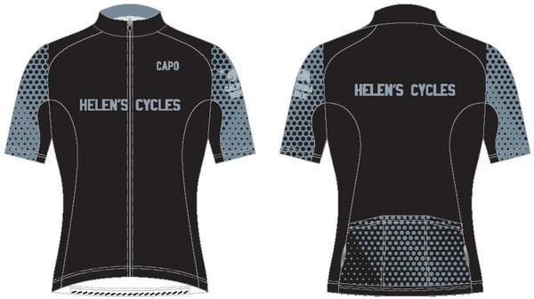 Helen's Cycles/I. Martin Bicycles Helen's Cycles Black Dot Custom Kit - short sleeve jerseyby Capo
