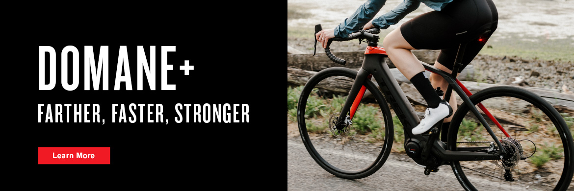 Ride faster and farther on the new Trek Domane+