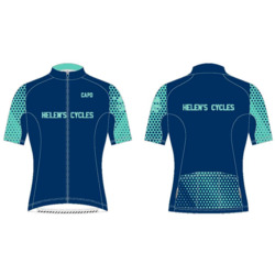 Helen's Cycles/I. Martin Bicycles Helen's Cycles Blue Dot Custom Kit - short sleeve jersey by Capo