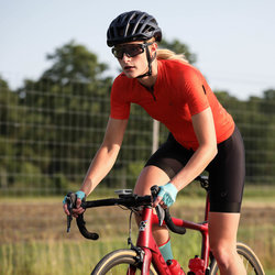 Velocio Aerial Dot ultralight jersey, Red - short sleeve, women's