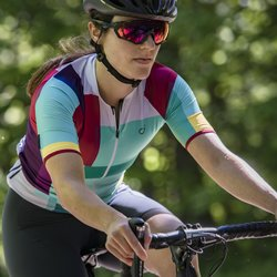 Velocio Glass Tile jersey - short sleeve, women's