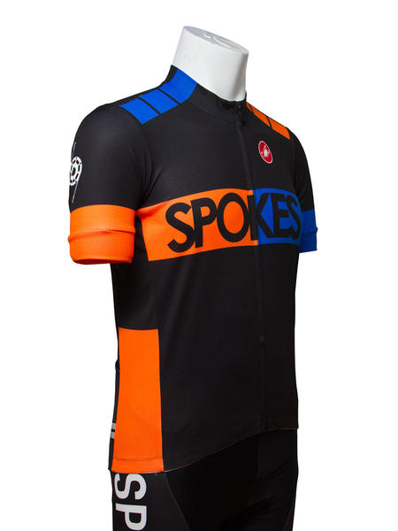 Castelli Spokes team fit jersey blue/orange