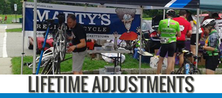 lifetime adjustments at Marty's Reliable Cycle