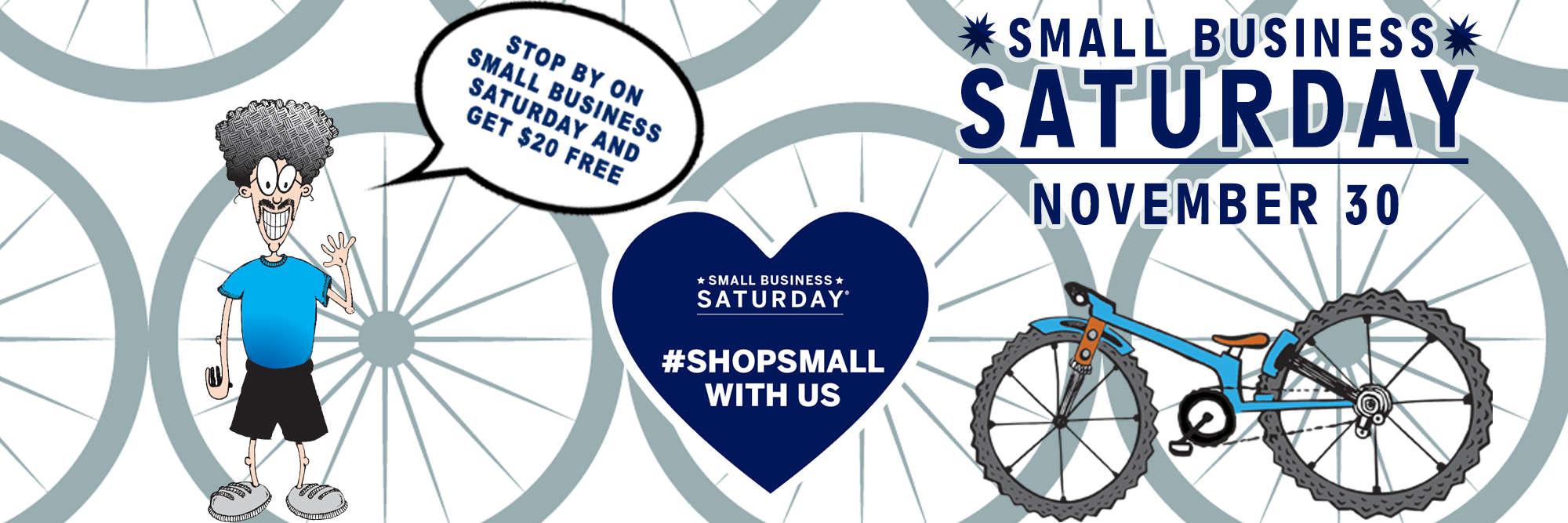 Small Business Saturday at Marty's Reliable Cycle
