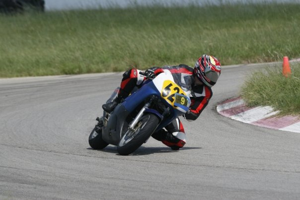Jay on the track in Texas
