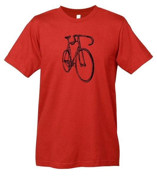 Mechanical Threads Bike Sketch T-Shirt Red