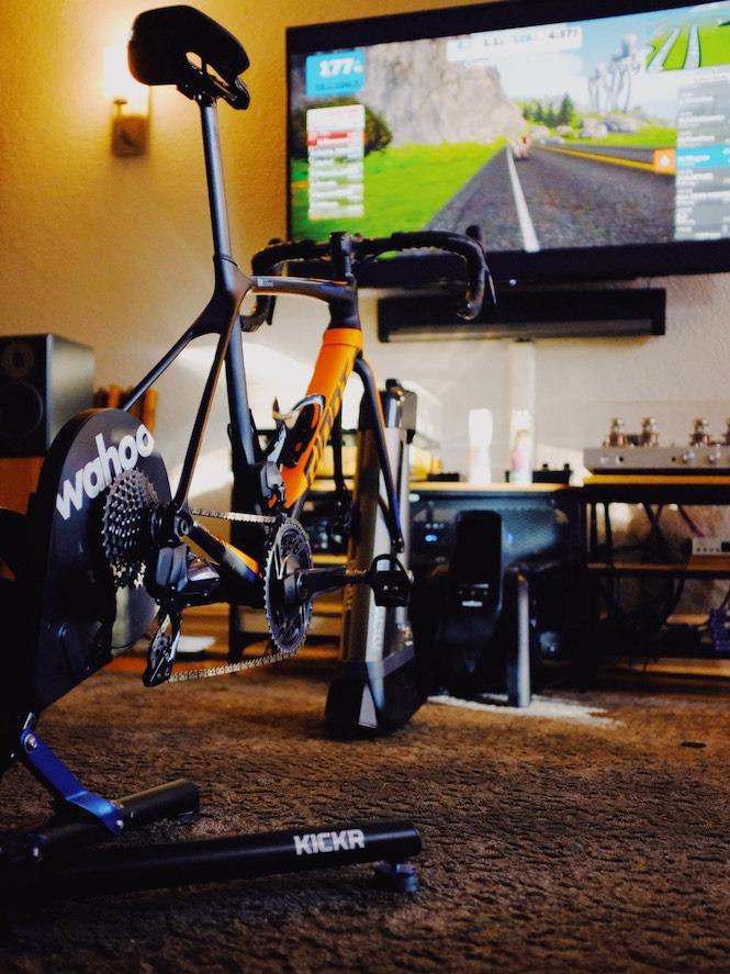 Wahoo Indoor Training Set up