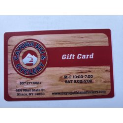 Cayuga Ski & Cyclery Gift Card