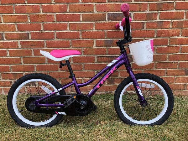 "Cahaba Cycles Pre-Owned Trek Precal 16"" Girls Purple"