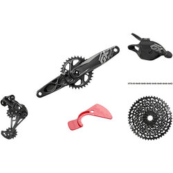 SRAM GX Eagle DUB Groupset: 175mm 32 Tooth Crank, Rear Derailleur, 10-50 12-Speed Cassette, Trigger Shifter, and Chain