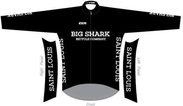 Big Shark Big Shark Black Edition Long Sleeve Thermal Jersey