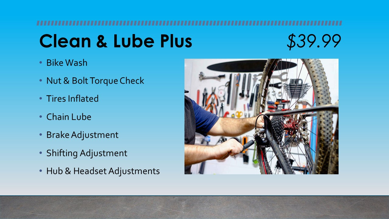 Clean & Lube Plus Bike Maintenance