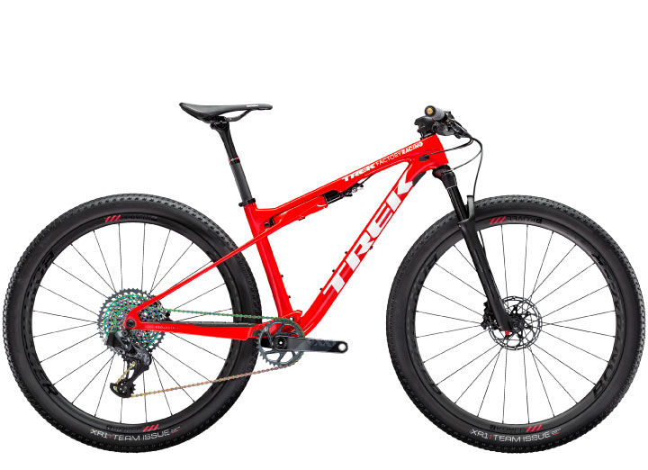 trek supercaliber 9.9 axs cx mountain bike in red