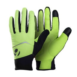 bontrager cycling gloves in yellow