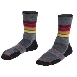 bontrager wool cycling socks in grey