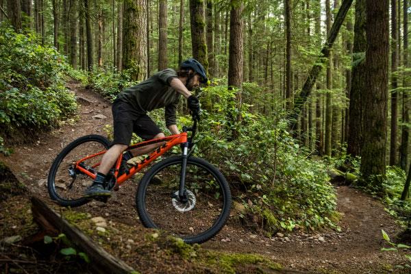 Intermediate mountain biker