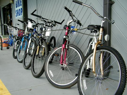 Row of Used Bikes