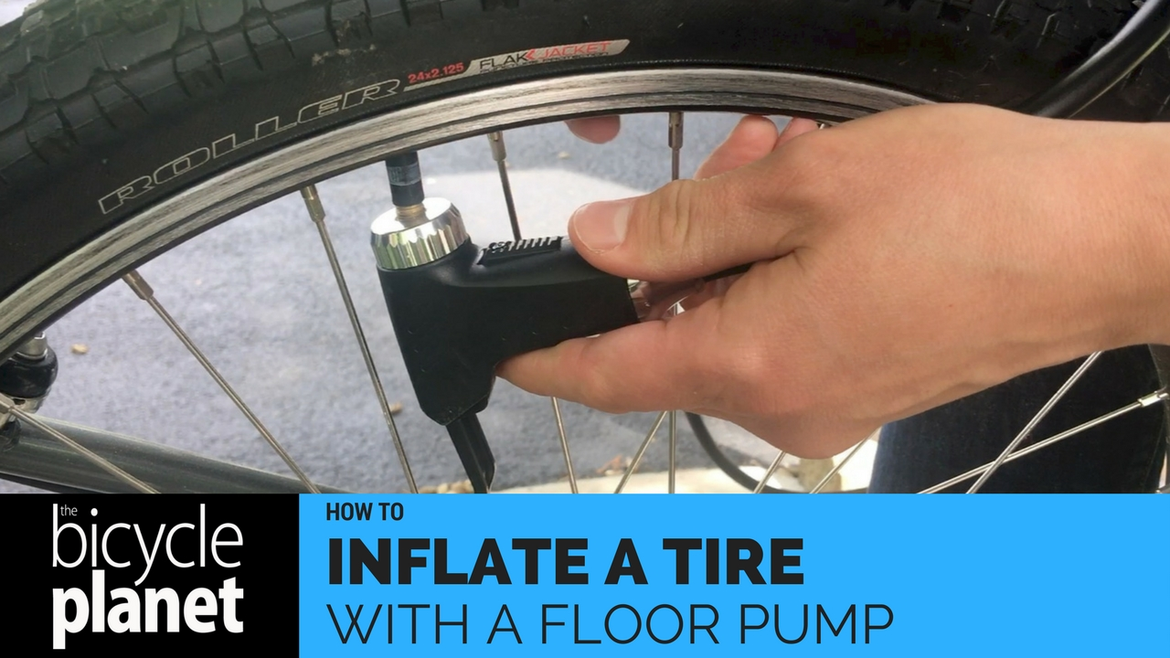 How to Inflate a Tire with a Floor Pump