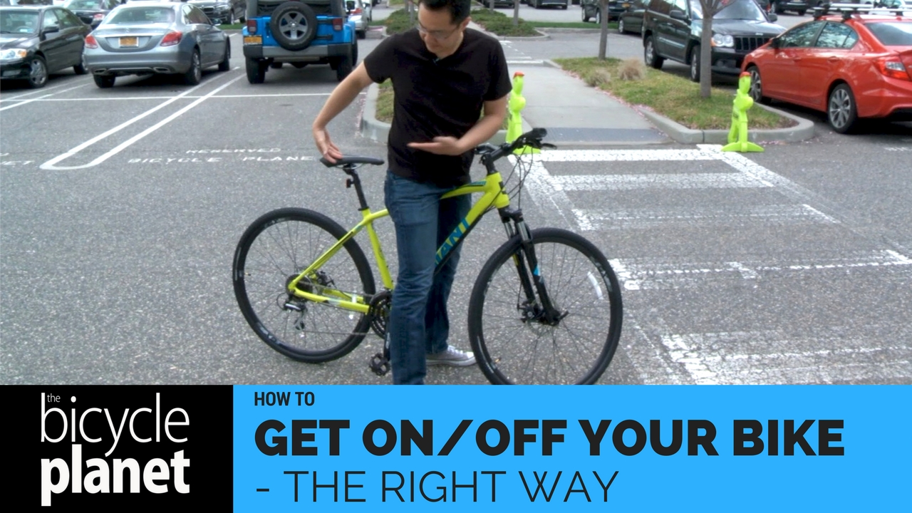 How to get on and off your bike the right way