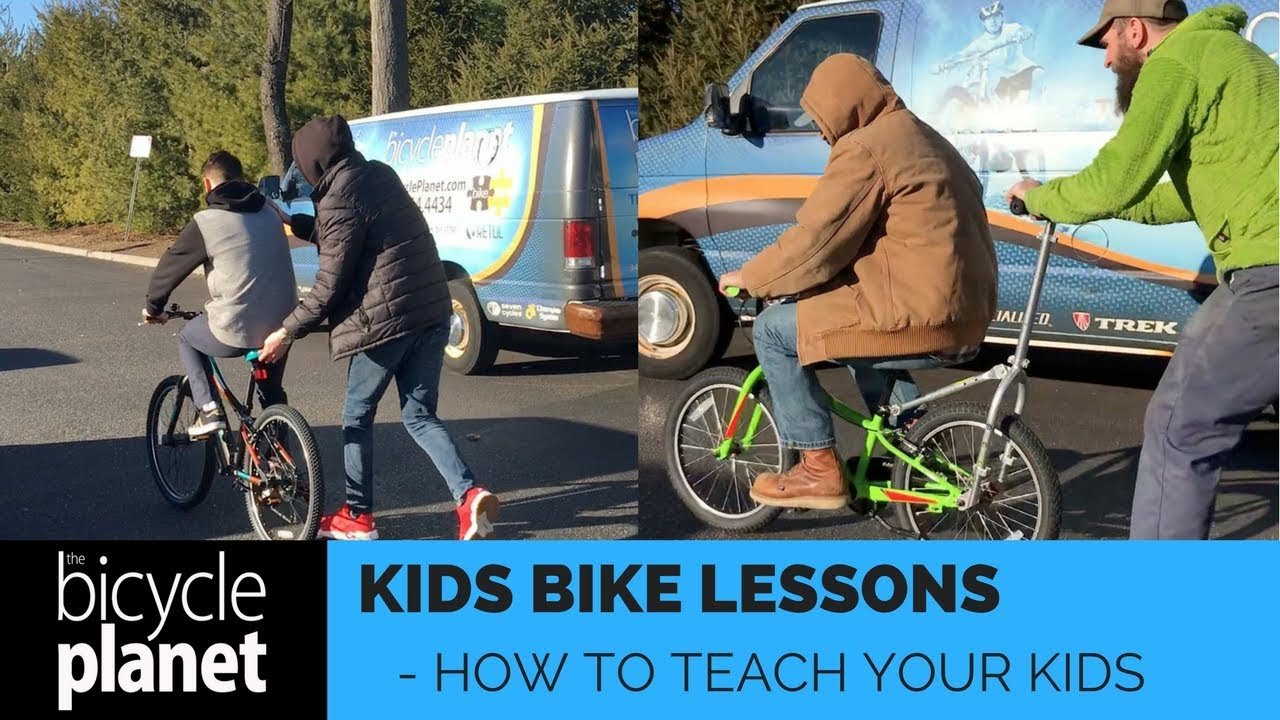Teach your kids how to ride a bike