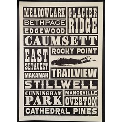The Bicycle Planet MTB Trail Poster