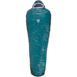 NEMO Nemo Equipment, Inc. Women's Azura 35 Sleeping Bag, Primaloft Silver Synthetic Insulation: Reg, Spruce/Lavender