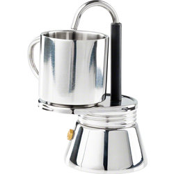 GSI OUTDOORS GSI Outdoors 1 Cup Stainless Mini Campstove Espresso Maker Set