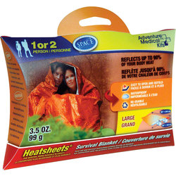 Adventure Medical Kits Adventure Medical Kits Heatsheets Survival Blanket, Two Person