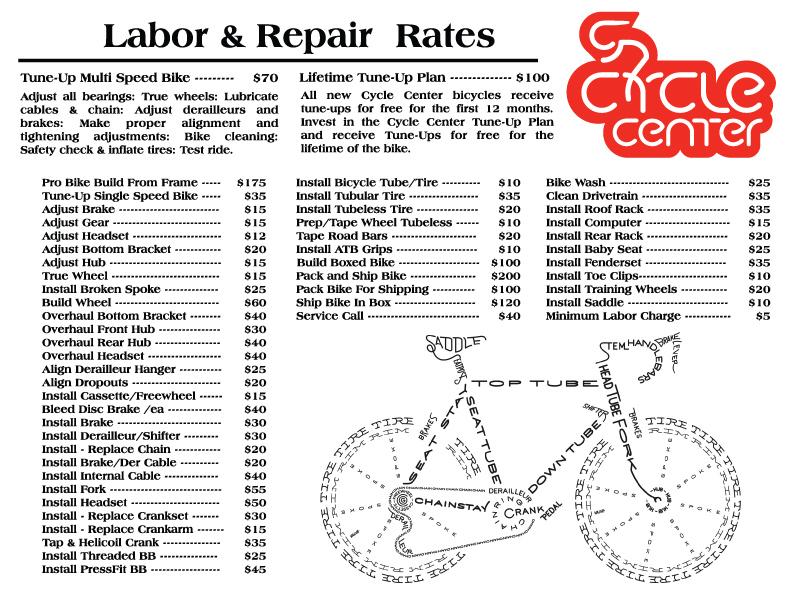 Bike Repair and Service Rates