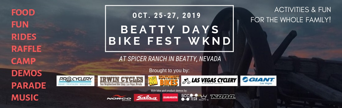 Beatty Mountain Bike Festival Weekend. Join the fun with your family!