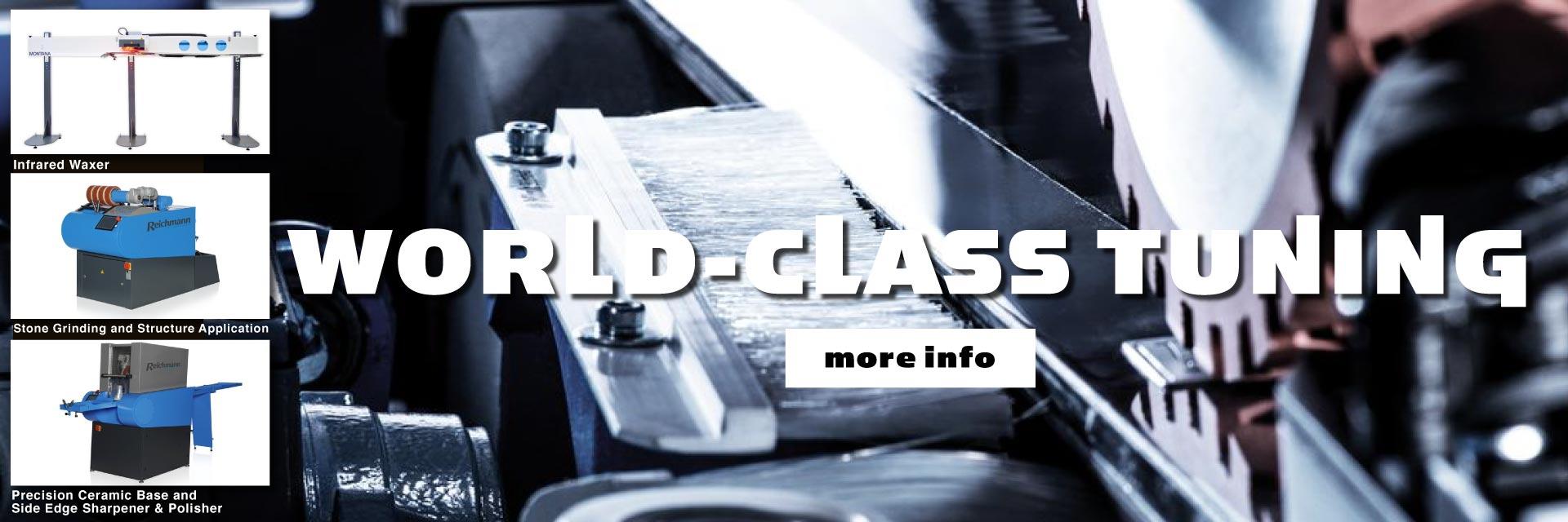 We offer world class ski tuning.