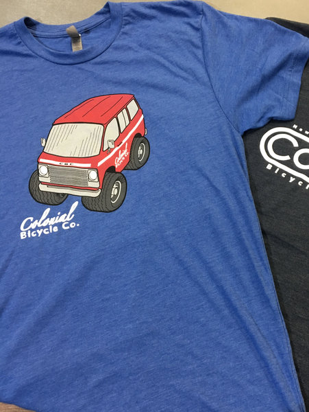 """Colonial Bicycle Company """" The Van """" T Shirt Women's"""