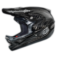 Troy Lee Designs D3 Helmet Pinstripe II CF Black