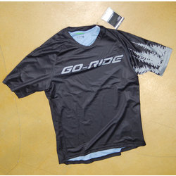 Go-Ride GIRO ROUST M JERSEY BLACK/SILVER TREES