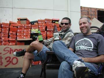 Two guys enjoying a drink