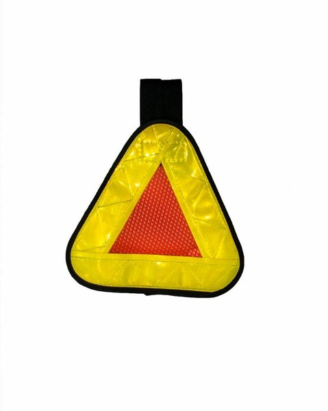 Aardvark Reflective Safety Triangle Yield Symbol For Runners Cyclists Bicycle