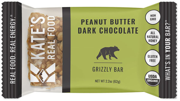 Kate's Real Food Grizzly Bar - Peanut Butter Dark Chocolate