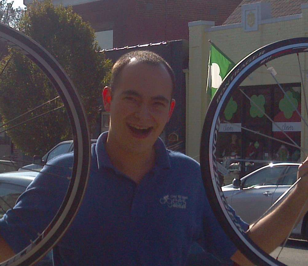 Hami with his Bontrager wheels