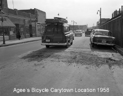 Agee's Bicycle Cary Location 1958