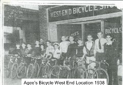 Agee's Bicycle West End Location 1958