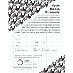 CycleMania CycleMania University