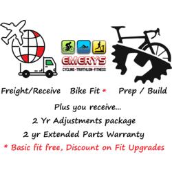 Emerys Destination / Build / Prep charge per bike $1401 to $1900