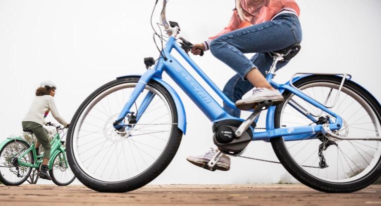 Rider on a cruiser electric bike