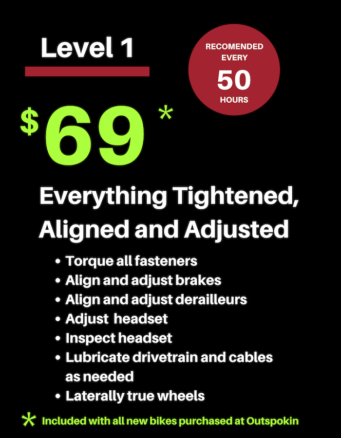 Level 1 service package $69