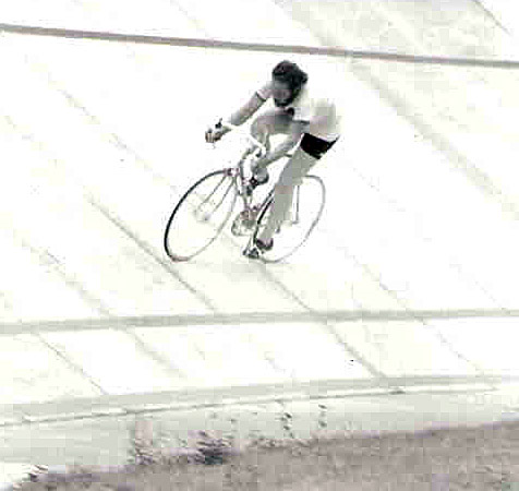 Lane Phillips at the Atlanta velodrome