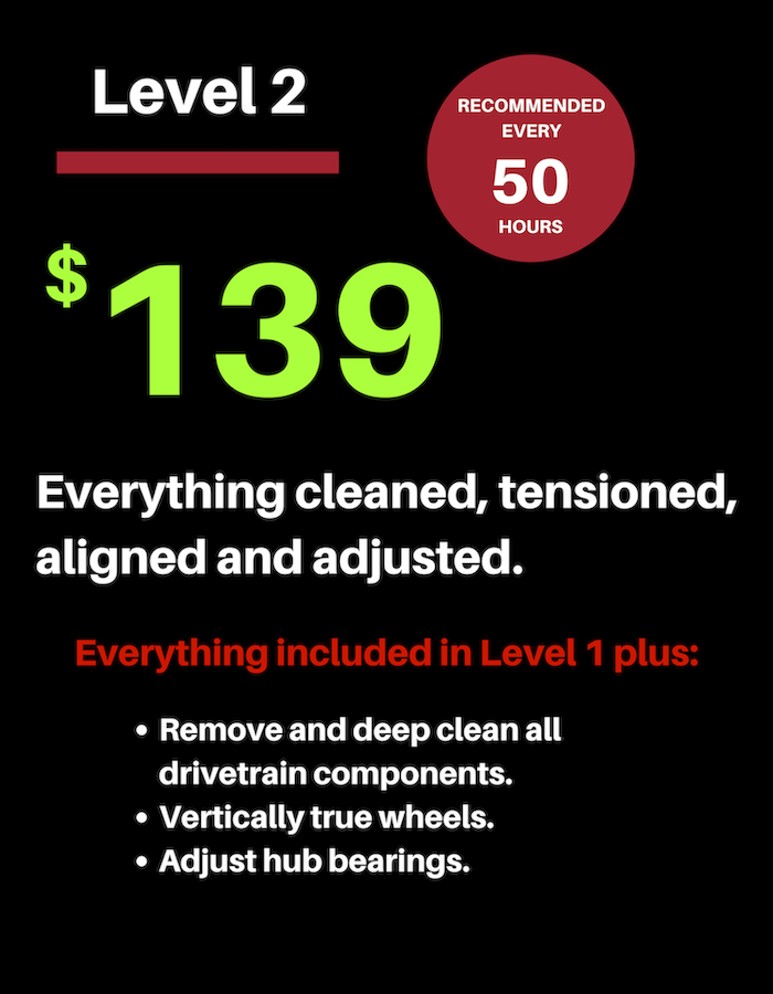 Level 2 service package $139
