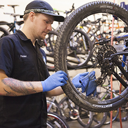 Blue ridge Cyclery offers complete bike service and repair.