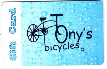 Tony's Bicycles Gift Card