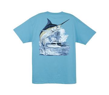 "Aftco Guy Harvey ""Marlin Boat"" Short Sleeve Tee"