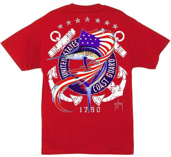 "Aftco Guy Harvey ""US Coast Guard"" Short Sleeve Tee"